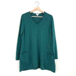Pure J. Jill Teal Tunic Top With Pockets